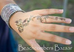 Henna and glass Indian bangles at Beachcombers Grand Opening.