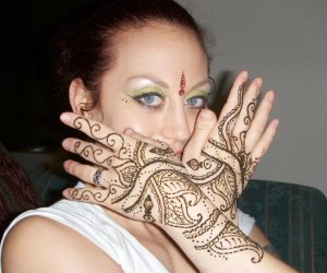 Henna hands on Lacey of Florida Tribal Dance