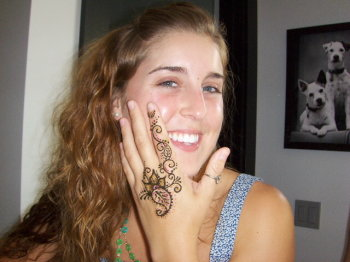 Henna for a cause, Orlando's Earthday birthday party.